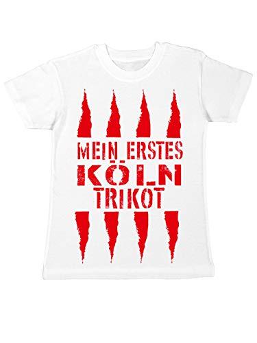 clothinx Kinder T-Shirt Mein erstes Köln Trikot Weiß Gr. 104