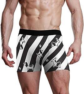 Fitted Boxer Bóxer Lindo patrón de Bulldog Boxer Calzoncillos para Hombre,5,XL
