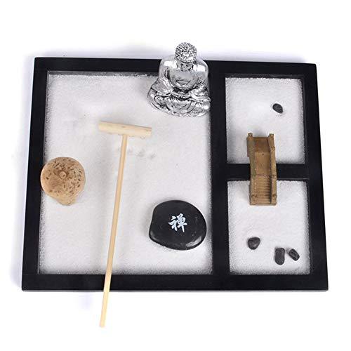Faviye Mini Meditation Zen Tuin miniatuur Boeddha ornament landschap zandbak voor wooncultuur cadeau