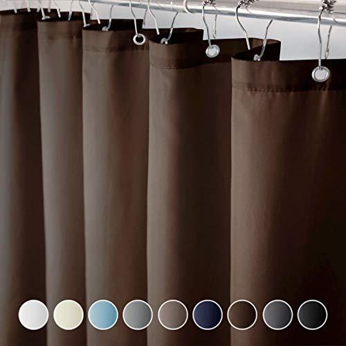 eforcurtain Heavy Duty Duschvorhang, wasserdicht & mildew Badezimmer Vorhang Stoff, Polyester-Mischgewebe, schokoladenbraun, 72W x 72L