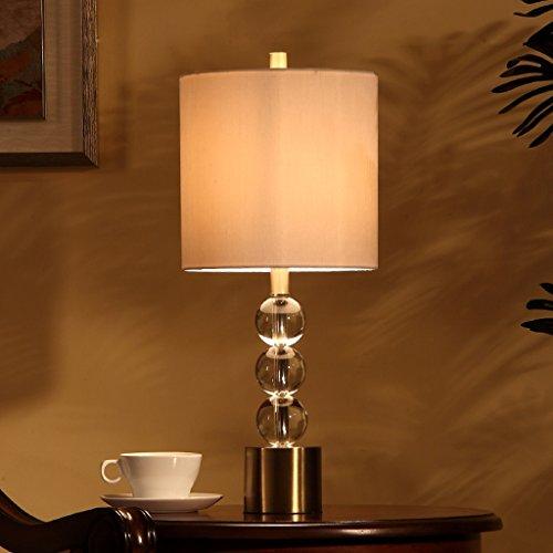 Bonne chose lampe de table Lampe de table en cristal européen Lampe de chevet en chambre à coucher Salon en cuivre américain Lampe de luxe Luxe K9 Lamps