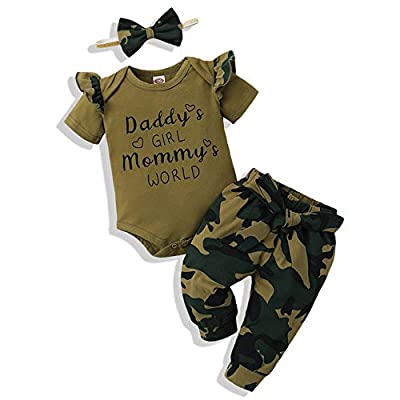 Renotemy Infant Baby Girl Summer Clothes Newborn Outfits Romper Little Sassy Pants Sets Baby Girl Clothes 0-3 Months Green from