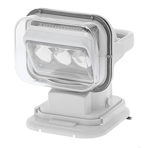 Proyector LED de 60W,60W 6000K Control remoto 360 ° Girar una sola fila Luz de búsqueda halógena portátil marina/Luz de techo de camión/Lámpara de trabajo,IP67 Impermeable,para restauración
