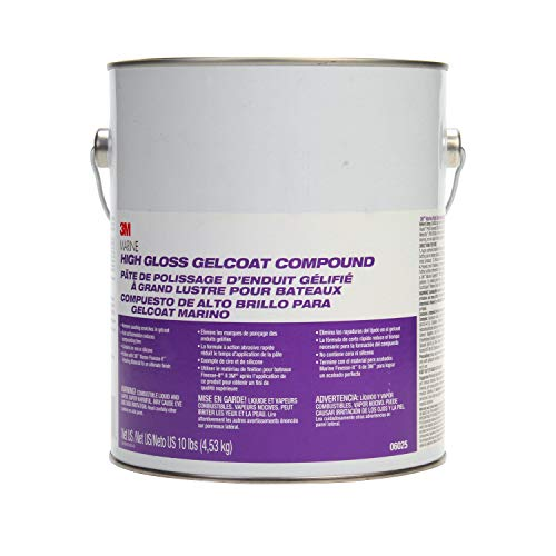 3M Marine High Gloss Gelcoat Compound, 06025, 10 lb