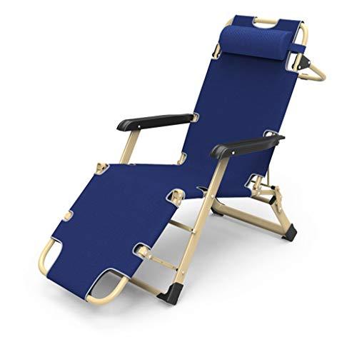 HYRL Chaise Longue de Camping en Plein air portative, Chaise de Plage rembourrée Pliante inclinable, lit de Chaise Longue pour Jardin et Camping en Plein air