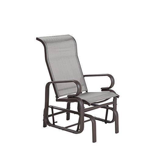 Moderner Garten-Schaukelstuhl aus Aluminium Polyester Bespannung Borgio