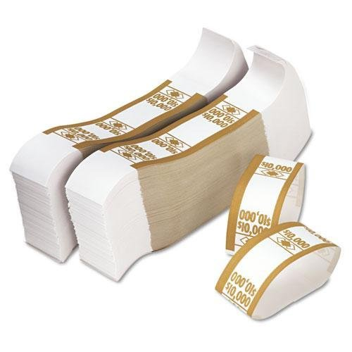 PMCOMPANY 55010 Self-Adhesive Currency Straps, Mustard, $10,000 in $100 Bills, 1000 Bands/Pack