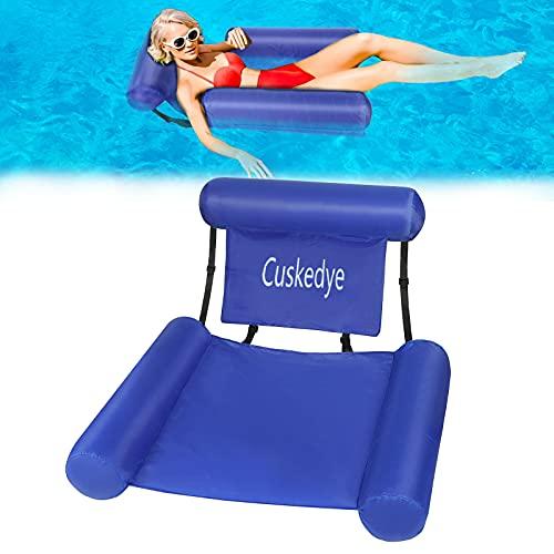 Cuskedye Flottantes Hamac Chaise Longue de Piscine Hamac d'eau Gonflable Portable Flotteur Ultraléger pour l'adulte Water Chair