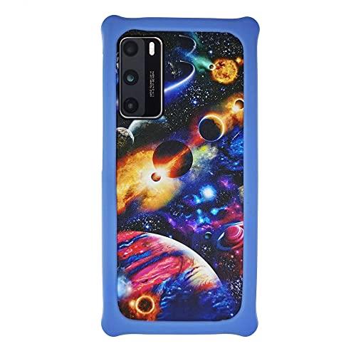 Oujietong Funda para ZTE V5 K3DX-V5G Funda Case Cover Carcasa para teléfono Hard Backplane + Marco de Silicona Suave PCXQ