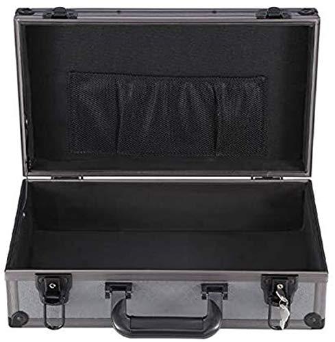 GOVD Caso Duro portátil de Vuelo, Caja de Herramientas Maletín de Aluminio con Cerradura Transporte Caso Negro Caso Equiment recipientes de Almacenamiento (Color : Without Spong, Size : 56x30x16cm)