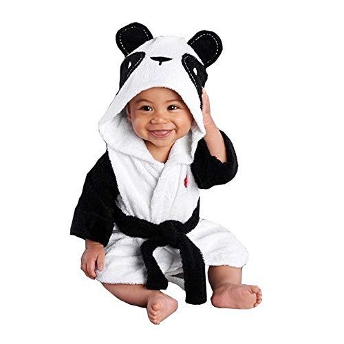 LUCKME Baby Jungen Mädchen Kinder Bademantel Cartoon Tiere Kapuze Handtuch Pyjama Kleidung