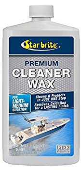 STAR BRITE One-Step Heavy Duty Cleaner Wax with PTEF - Removes Oxidation - Restores & Protects 32 oz  089632P