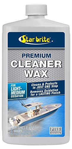 STAR BRITE One-Step Heavy Duty Cleaner Wax with PTEF - Removes Oxidation - Restores & Protects, 32 oz (089632P)