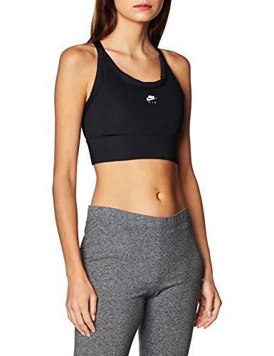 Nike Med Pad Air Bra Reggiseno Sportivo, Donna, Black/Black/White, M
