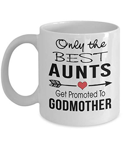 Alleen de beste tantes worden gepromoveerd tot peetmoeder - geschenk voor tante koffiemok, grappig, beker, thee, cadeau voor Kerstmis, Vaderdag, Moederdag, opa, papa, vader, grootvader, Kerstmis