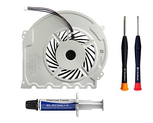 ElecGear Ventilador de Refrigeración para PS4 Slim CUH-2xxx – Interno CPU Cooling Fan, Reemplazo de Enfriamiento, Pasta Térmica, Torx TR8 PH00 Herramienta de reparación Playstation 4 Slim