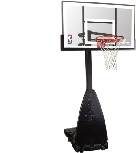 Spalding Basketballanlage NBA Platinum Portable, transparent, 3001650010954