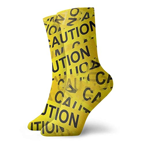 flys christmas stockings personalized Caution Tape Unisex Fun Cool 3D Print Colorful Athletic Sport Novelty Crew Tube Socks