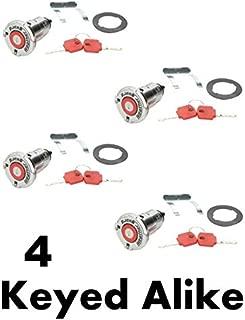 Weather Guard 7748-4PK Replacement Truck Tool Box Locks (4 Locks Keyed Alike)