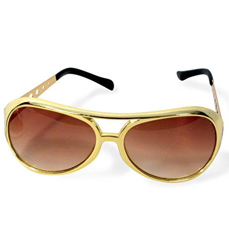 KarnevalsTeufel Rockstar-Brille, sortierte Farben (Gold)