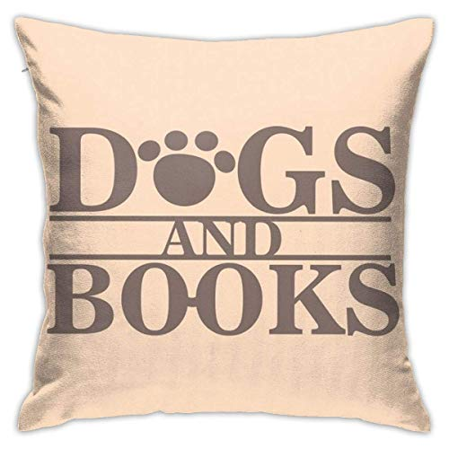 Yuanmeiju Funda de Almohada de Moda Dogs Are People Too Glow in The Dark Women Both Sides Throw Pillow Covers Cotton Home Decor Sofa Square Cushion Cover Pillow Case 18x18 Inch
