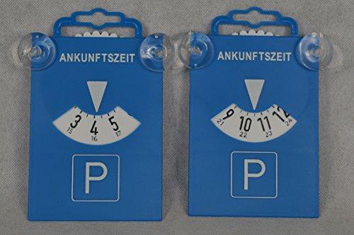 2 Stück Parkscheibe mit Saugnapf aus Kunststoff 84511 Parkscheiben Parken Zeitnachweis