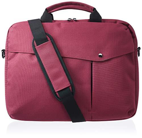 Amazon Basics – Businesstasche für Laptop, 38 cm, kastanienbraun