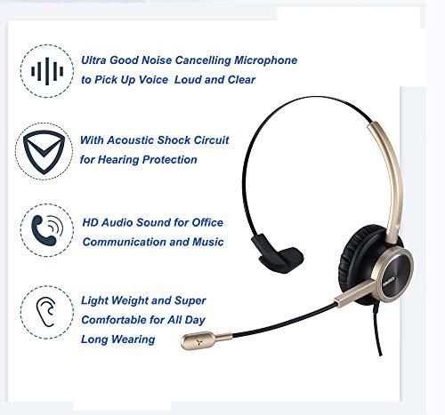 MAIRDI Handy-Headset mit Nosie Cancelling Mikrofon Mono 3,5 mm Klinke Headset mit Mikrofon Stummschaltung Lautstärkeregler für Handys Apple iPhone Samsung BlackBerry Android