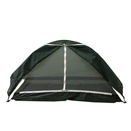Terynbat Cama para Acampar al Aire Libre Fuera del Suelo, Tienda Individual, Equipo de Campamento Impermeable, sombrilla multifunción Manual, Tienda de Gasa