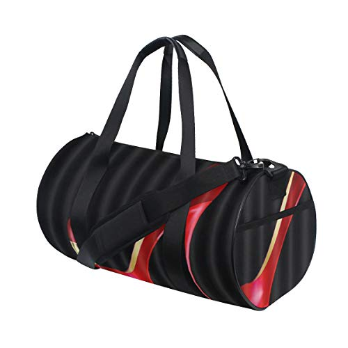 ZOMOY Bolsa de Deporte,Rojo Tacones Altos Lápiz Labial Niña Negro,Nuevo de Cubo de impresión Bolsas de Ejercicios Bolsa de Viaje Equipaje Bolsa de Lona