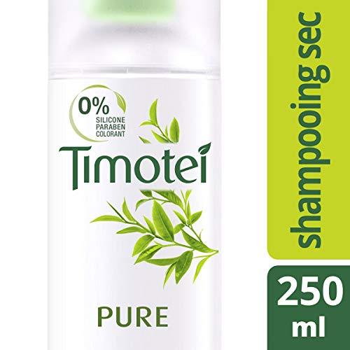 Timotei, Shampooing Sec pour Femmes, pour les Cheveux Normaux Regraissant Vite, à l'Extrait de Thé Vert Bio, Flacon Recyclable 250ml