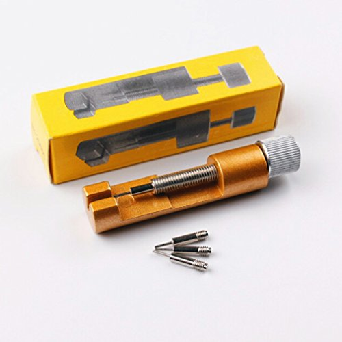 Pinhan Werkzeug zum Entfernen von Armbändern aus Metall, Länge einstellbar, professionelle Reparaturwerkzeug, Gurtentriegelung, Metall, gelb, As The Description