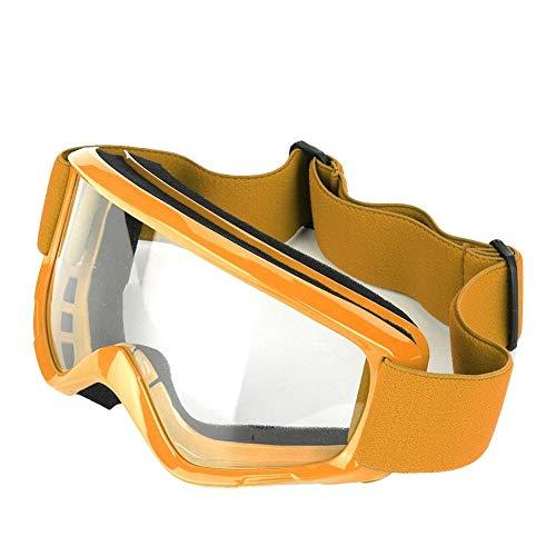 KSTE Unisex Outdoor Motorcycle Bril Skihelm Sport Motorcycle Racing Bril (oranje)