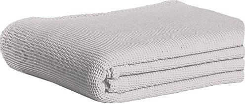 Dormisette 838704 Piqué Baumwolldecke, Baumwolle, Stein, 210x150x2 cm