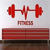 Yologg 34X58Cm Levantamiento De Pesas Barbells Fitness Gym Sportium Vinyl Sticker Sticker Decal Home Boys Regalo