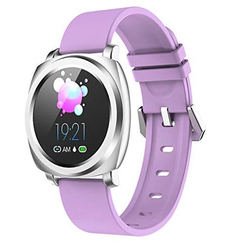 LQIAN Fitness -Uhr IP67 wasserdicht Smart Watch Fitness-Uhr mit Schrittzähler, Herzfrequenzmesser, Schlafmonitor, Nachrichtenbenachrichtigung, Anruf SMS Kompatibel mit Android iPhone