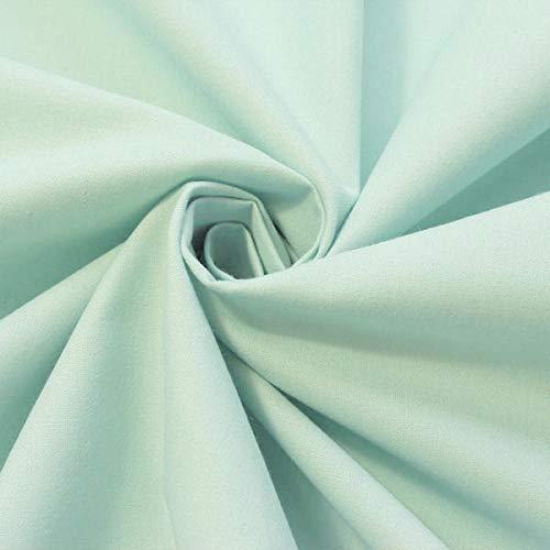 STOFFKONTOR 100% Bio Baumwollstoff Stoff - GOTS Organic Standard - Meterware, Hell-Türkis - zum Nähen von Bekleidung, Vorhängen, Bettwäsche, Dekorationen UVM.