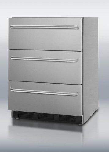 Summit SP6DSSTB7ADA Built-in Drawer Refrigerator, Stainless Steel