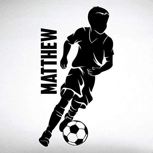 LKJHGU Mädchen und Fußball Dribble Wandaufkleber Home Decor Wanddekoration Mädchen Fußball Damen Dribble