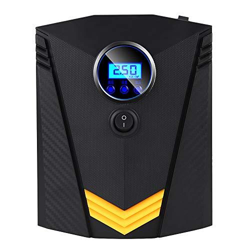 YOPOTIKA Inflador digital de aire portátil para coche, con 3 boquillas, 12 V, 120 W