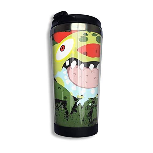 Hdadwy Edelstahl-Kaffeetassen-Tasse - Behemoth Splatter Isolierte Vakuum-Edelstahl-Becher-Tasse 13.5oz Kaffee-Reisebecher