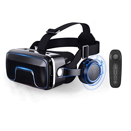 Buy Discount Yoiyl VR Virtual Reality 3D Glasses + Smart Bluetooth Wireless Remote Control Game Controller