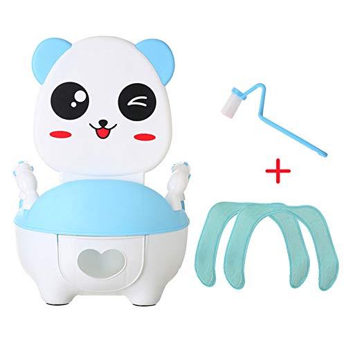 Bimbi Vasino Bimbo Vasetto WC Toilette di Viaggio Portatile con Manico Divertente per Bambini Schienale Ergonomico Alto Confortevole e Robusto,Blue