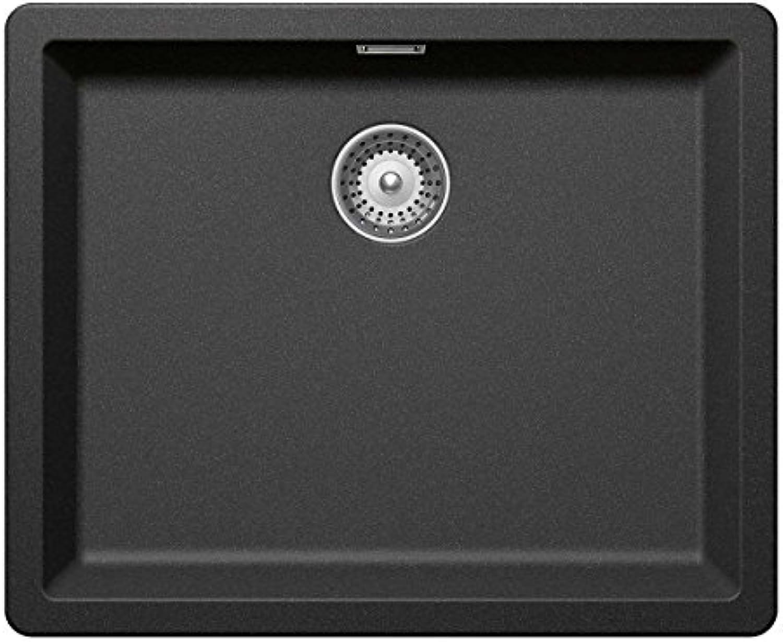 Schock Grünwich N-100 L U Stone Granit-Spüle Grau Unterbaubecken Küchenspüle