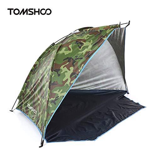 ROMOR Strandmuschel Outdoor-Strandzelt Shelter 2 Personen Sommer UV-Schutzzelt Sport Sonnenschirm Camping Fischen Zelt für Picknick Park @ Camouflage_Russian_Federation