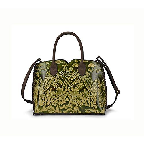 Y-hm Moda Bolso portátil de cáscara de cáscara de Cepillo de Cepillado de Mujer Diseño Ligero (Color : Green, Size : 35.5 * 27 * 11cm)