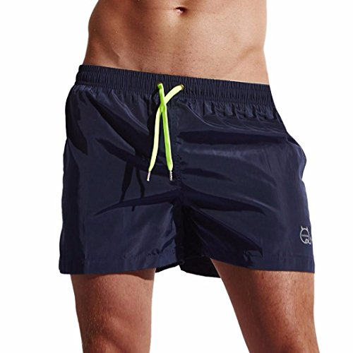Malloom® Herren Shorts Badehose Quick Dry Beach Surfing Laufen Schwimmen Watershort Herren Herren Shorts Home Pants Sleek Strand Shorts Slim Pants Shorts (XL, Navy)