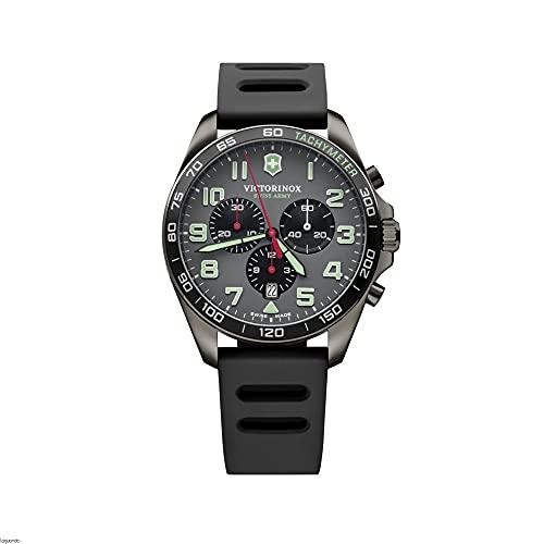 Victorinox Field Watch Reloj para Hombre Analógico de Cuarzo con Brazalete de Goma V241891