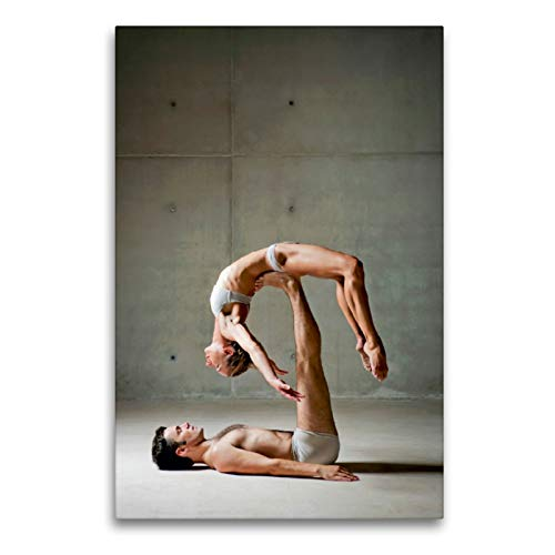 La Bailarina de Ballet se Encuentra Relajada en los pies de su Pareja, 60x90 cm