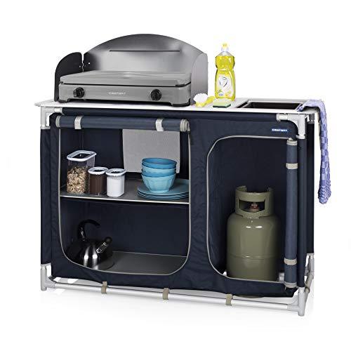 Campart Cucina da Esterni Alicante, Unisex Adulto, Blu, 102 x 48 x 85/116 cm